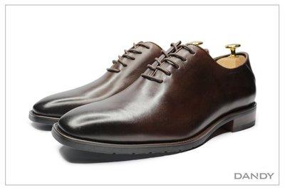 ├ DANDY ┤真皮方頭燻黑紳士皮鞋 ‧ 2020新款冬季正裝男鞋 咖啡色-886-K01