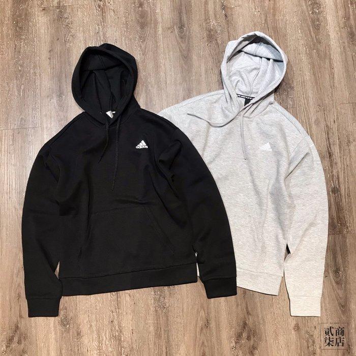 (貳柒商店) adidas 3-Stripes Hoodie 男款 背後三線 帽T 黑 FI6143 灰 FL3890