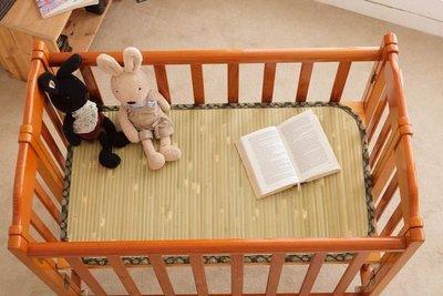 【鹿港竹蓆】11mm 大青 竹蓆(涼蓆.草蓆) 嬰兒床 120CM X 60CM 100% 台灣製造 附收納袋 束帶款