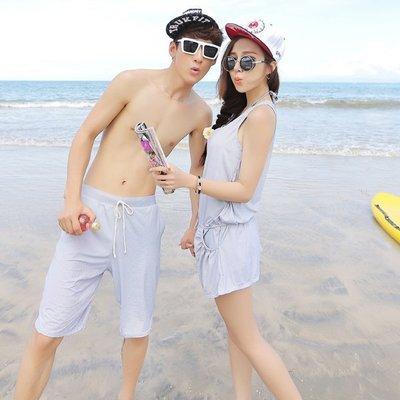 5Cgo【鴿樓】會員有優惠 37329827529  溫泉情侶泳裝 比基尼三件套 女生 遊泳衣 ( 女生款)