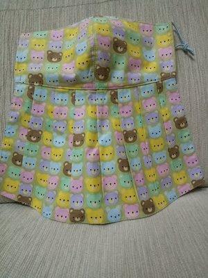 天使熊小鋪~新純手工日本布立體口罩(彩色大頭熊口罩)大人加長版庫存一個~~原價390