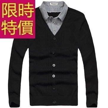 假兩件式襯衫 時髦羊毛-風靡時尚長袖男毛衣2色59ac36[韓國進口][米蘭精品]