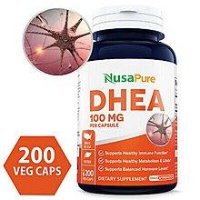 【美國原裝預購】Nusapure DHEA 100mg 200顆素食膠囊