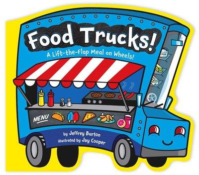 *小貝比的家*FOOD TRUCKS A LIFT-THE-FLAP MEAL ON WHEELS/硬頁書2-3歲幼幼班