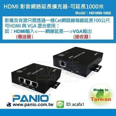 1進3出HDMI影音訊號CAT延長器HUB延伸數位影音同步播放《✤PANIO國瑭資訊》HD1000-1002
