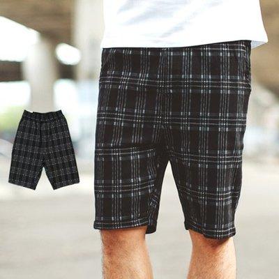 柒零年代【NB0521J】韓國製英倫風舒適彈力格紋短褲(PA-H511)