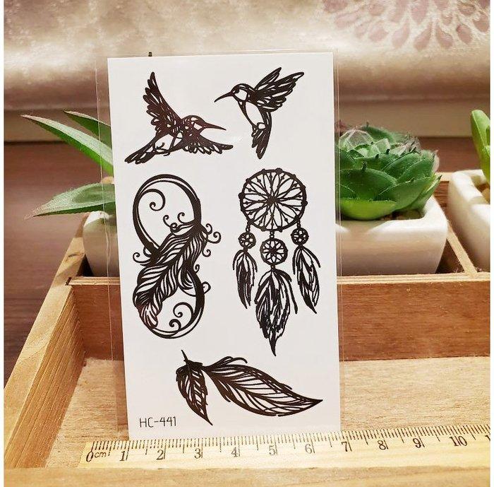 【萌古屋】黑色小圖騰 - 男女防水紋身貼紙刺青貼紙HC-441