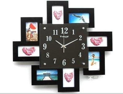 【格倫雅】^大鐘面簡約相片墻掛鐘客廳臥室辦公室鐘表壁鐘 風格相133[g-l-y33