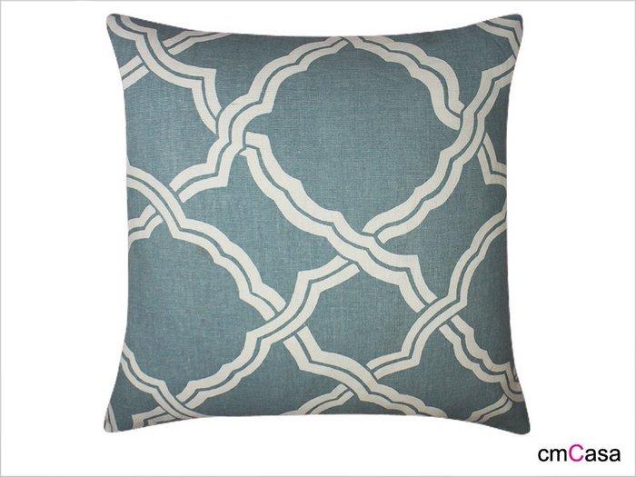 = cmCasa = [3482]美式早春樂活設計 格藤幾何抱枕套 美式最受歡迎新品