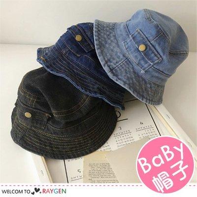 八號倉庫 帥氣兒童口袋造型牛仔帽 遮陽帽 漁夫帽【2D094M786】