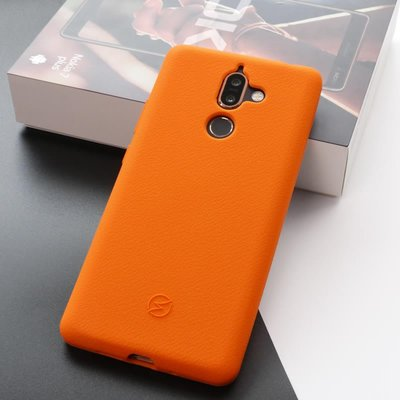 【Seepoo總代】出清特價 諾基亞 Nokia 7 Plus 6吋 超軟Q 矽膠套 手機套 手機殼 亮橙