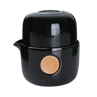 免運【回甘草堂】宜龍 QUICKER雙享泡-亮黑(250ml) 泡茶利器 隨時隨地可泡茶