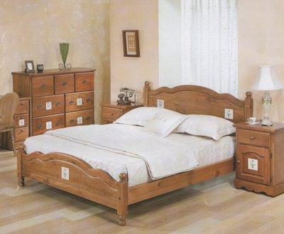 原木雙人床架 溫馨典雅 實木雙人床 美觀大方 5尺*6.2尺(另有售加大款6尺*6.2尺)
