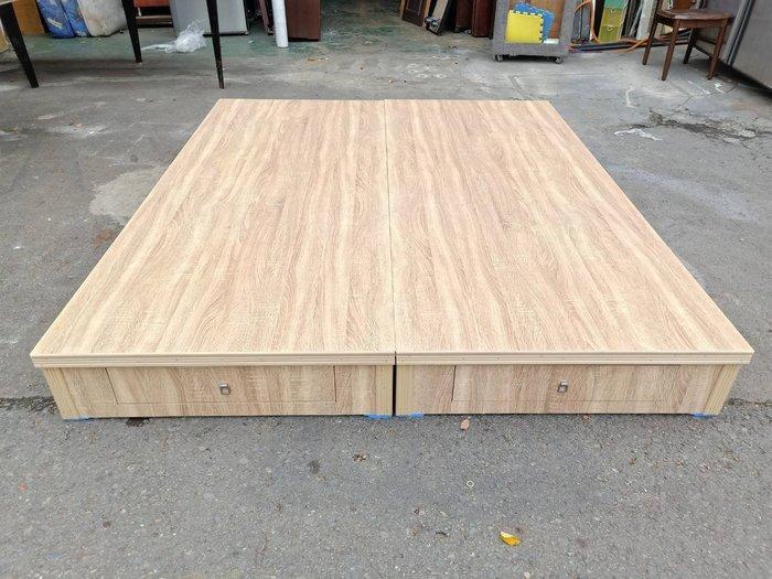 非凡二手家具 全新 橡木色6尺床底(6抽屜)*床底*雙人床架*雙人床*二手床箱