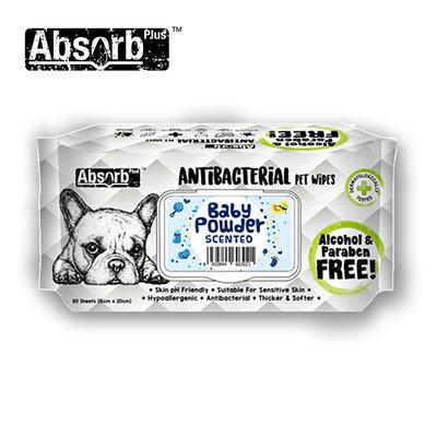 SNOW的家【訂購】Absorb Plus 寵物用抗菌濕紙巾 6種香味-爽身粉香 (11090037