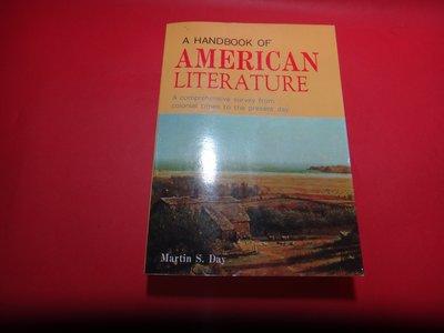 【愛悅二手書坊 06-60】A Handbook of American Literature