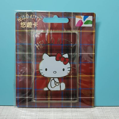 HELLO KITTY格紋悠遊卡-紅-080102