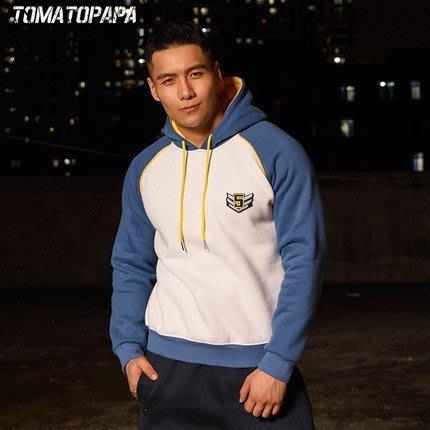 【OTOKO Men's Boutique】MOEA墨立方:有種部隊連帽長袖/白藍黃配色