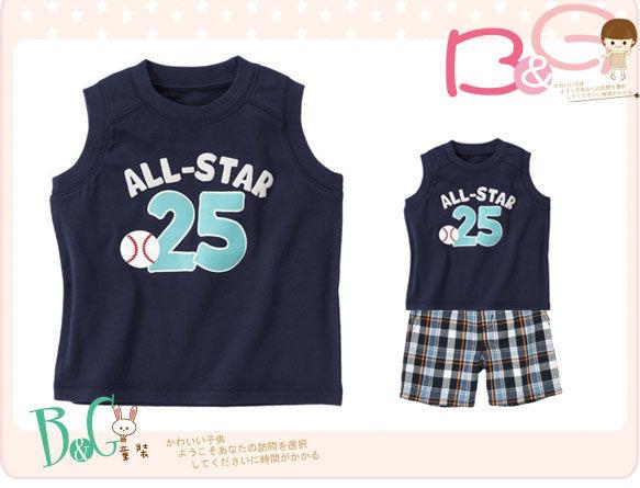 【B& G童裝】正品美國進口GYMBOREE Aii-Star Baceball Tank棒球藍色背心上衣4yrs