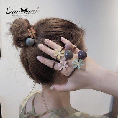 娜個小屋森系花朵頭繩女簡約韓版發圈韓國可愛網紅扎頭皮筋女發繩頭飾選項不同 價格不同