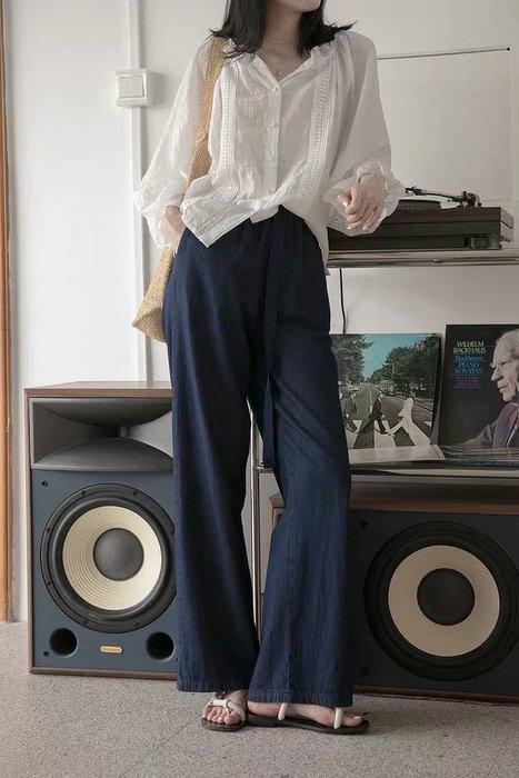 薄款 牛仔落地褲