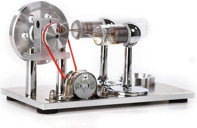 Sunnytech Hot Air Stirling 發動機模型教育玩具發電機多彩LED  SC001 熱導流