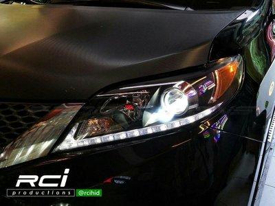 RC HID LED專賣店 TOYOTA SIENNA 11-14年 LED DRL 魚眼大燈組