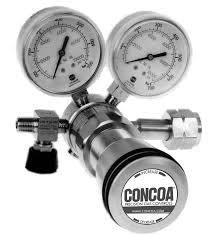 美國 CONCOA 原裝進口 492銅鍍鉻、493不鏽鋼超高壓氣體減壓閥 (Max Inlet: 6000psig)