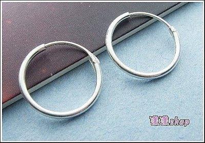 *。漾漾小舖*。0.8cm基本款圓圈針式耳環.925純銀【C105】☆防過敏
