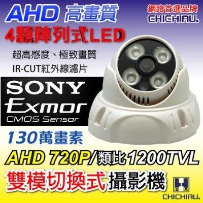 弘瀚台中【CHICHIAU】AHD 720P SONY 130萬畫素夜視監視器攝影機