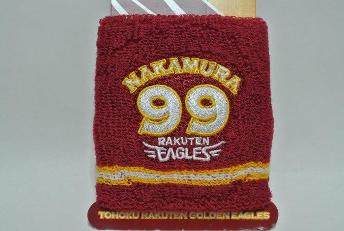 貳拾肆棒球--日本帶回日職棒東北樂天中村紀洋刺繡LOGO護腕