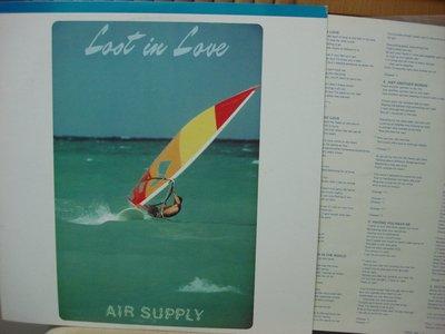 [阿慜歌的音樂小舖]二手LP{Air Supply}---Lost In Love//Chances/**近如新**