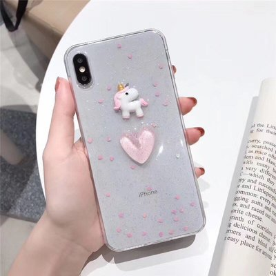 ☆韓元素╭☆Mobile-Style 愛心獨角獸造型 iPhone 11 Pro 保護套 5.8吋 軟式保護殼 獨角獸