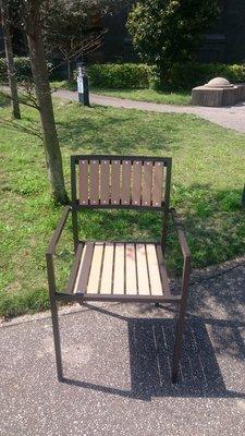 [兄弟牌戶外休閒傢俱] 塑木椅單張~餐飲營業或自用陽台公園,堅固耐久用好維持。庭院休閒傢俱
