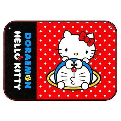 尼德斯Nydus~* 日本正版 三麗鷗 kitty 凱蒂貓 x 哆啦a夢 小叮噹 聯名款 毛毯 披巾 披肩 小毯子