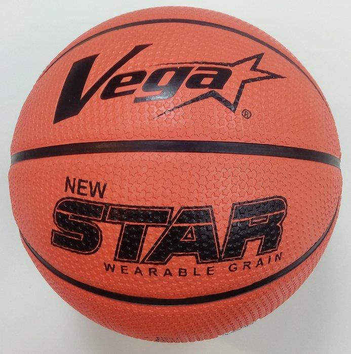 體育課 VEGA 7號籃球 獨家耐磨星星顆粒系列 OBR-736S(橘色)  橡膠材質 國、高中和社會組用球大小#7