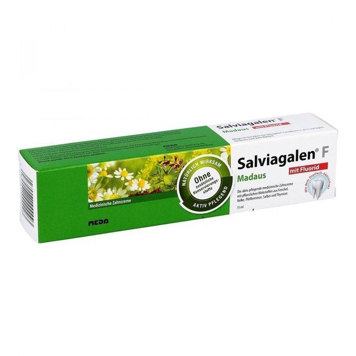 德國Madaus Salviagalen F Zahnpaste 綠色草本牙膏75ml