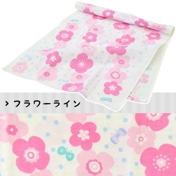 日本製 小花蝴蝶 紗布棉材質長毛巾