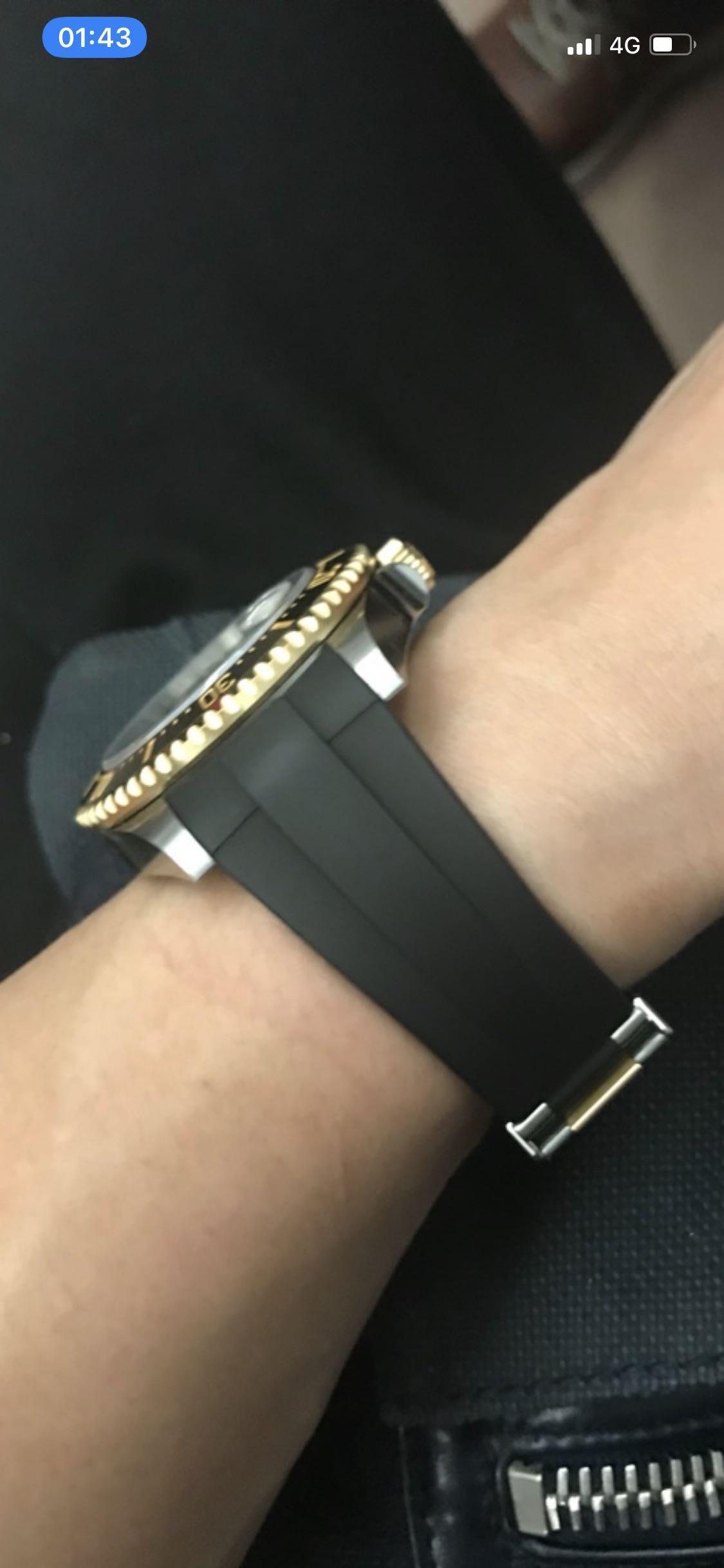 Rubber B新海使專用橡膠錶帶 126600/126603