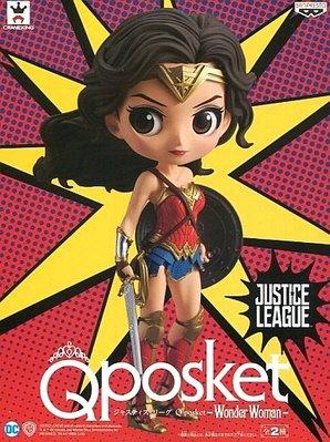 日本正版 景品 Q posket DC 神力女超人 特別色 模型 公仔 日本代購