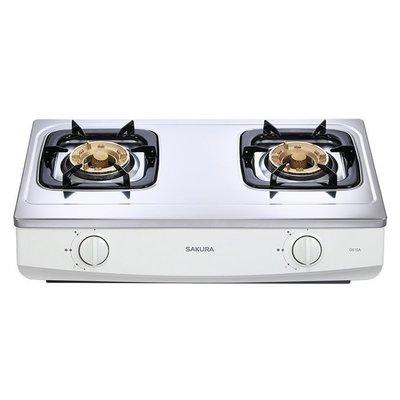 櫻花牌-G-615AS/G615AS傳統式不鏽鋼面板附清潔盤瓦斯爐☆門市自取價