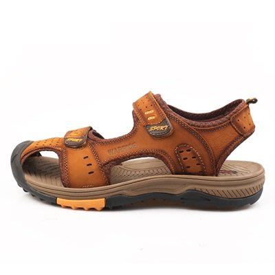 涼 鞋 真皮拖鞋-夏季休閒舒適清涼男鞋子3色73sa15[獨家進口][米蘭精品]