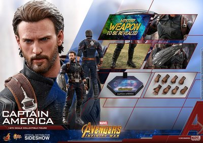 Hottoys 已開 CAPTAIN AMERICA infinity war MMS480 普通版 hot toys