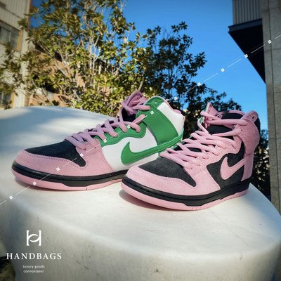 專櫃正品Nike SB Dunk High Invert Celtics 黑粉綠 US9.5 現貨