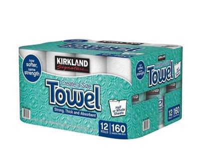 科克蘭 隨意撕特級廚房紙巾 160張 X 12捲 商品編號:#580517【COSTCO好市多線上代購】
