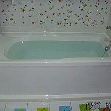 優質精品衛浴 (固定式浴缸特殊乾式工法,施打防霉膠) RF-157J 150*74*54cm 白色浴缸安裝施工圖1份