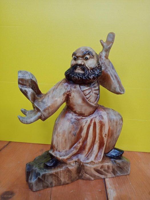 太極達摩 香樟木雕刻 作者:柯金仲