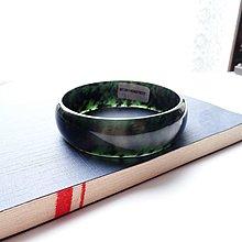 【老樹】天然墨玉【養生墨玉寬板手鐲】可吸磁鐵.內徑55.8 MM*結緣品