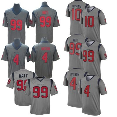 ☜男神閣☞nfl 德州人 inverted  4 Watson 10Hopkins 99 倒轉版刺繡球衣