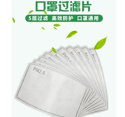 mandyshop【M0552】pm2.5兒童口罩防霧霾防護口罩濾片濾芯(一組2片)